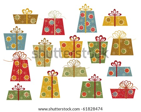 Set of colorful gifts