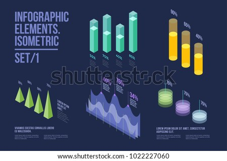set of colorful infographic
