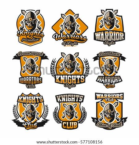 set of colorful logos  emblems