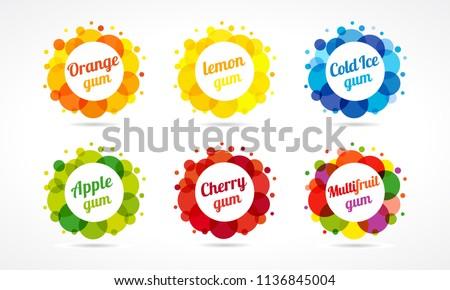 set of colorful logotypes