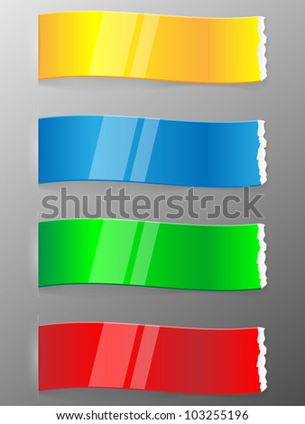 Set of colorful ribbons. Vector illustration.