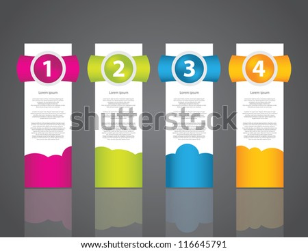 set of colorful sample labels for various options - stock vector