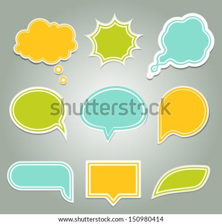 Set Of Colorful Speech Bubbles Eps 10