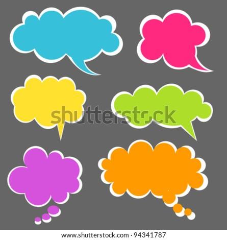 Set of colorful speech bubbles. Vector illustration