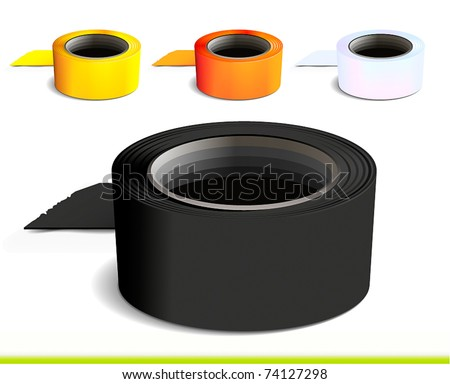Set of colorful tape rolls