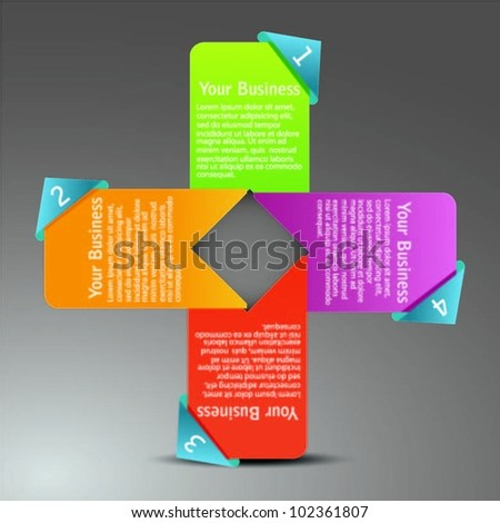 set of colorful text box-vector
