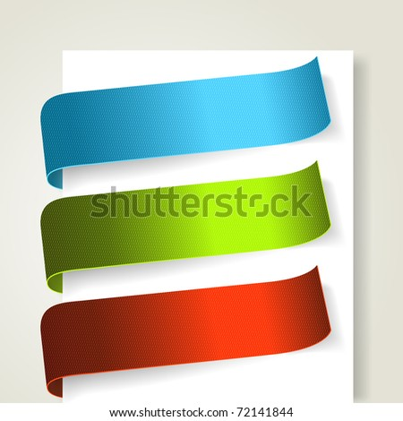 Set of colorful textile labels. Vector eps10 illustration