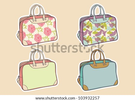 set of colorful travel bag