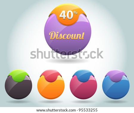 Set of colorful vector Icon Ball