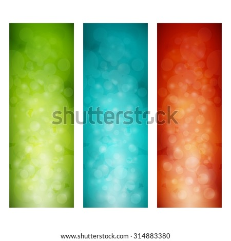 set of colorful vertical