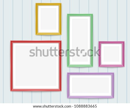 Colorful Wooden Frames - Download Free Vector Art, Stock Graphics ...