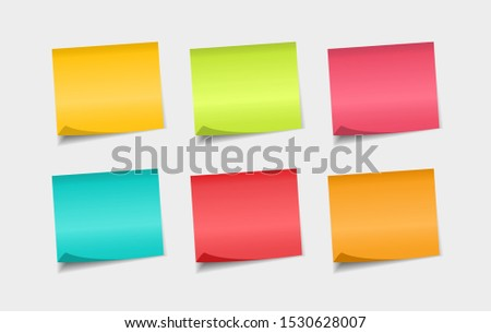 Set of colorfull sticky notes. Stickers notes paper. Notes to the message.