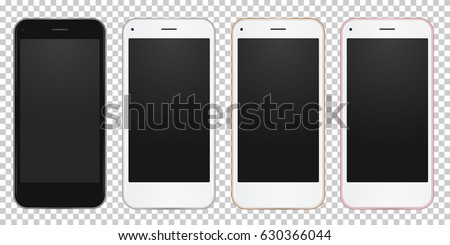 set of 4 colors mobile phone