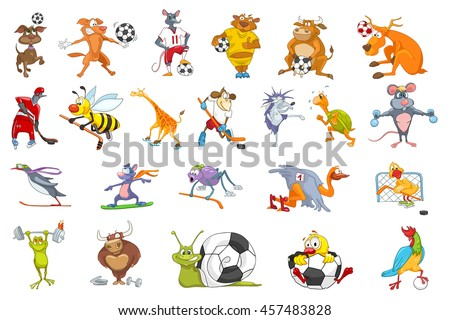 set of colourful animals