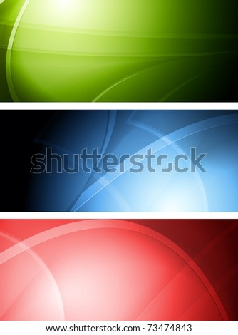 Set of colourful wavy banners. Vector illustration eps 10