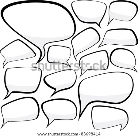 Set of comic style speech bubbles. Vector illustration.
