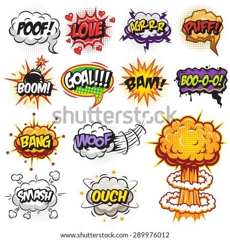 set of comics speech and