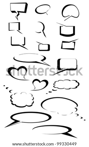 Set of comics speech bubbles