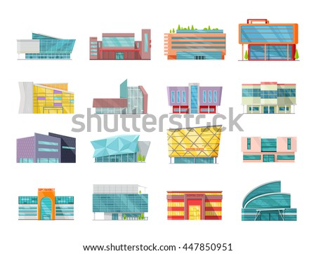 set of commercial buildings