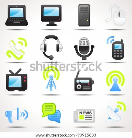 Set of communication icons-Set