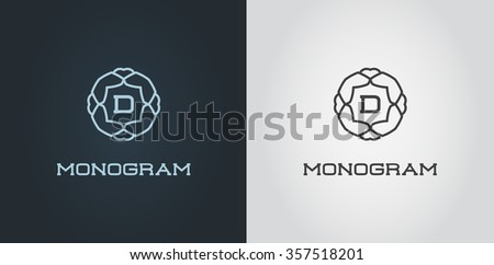Monogram logo vector template download free vector art stock set of compact monogram design template with letter vector illustration premium elegant quality pronofoot35fo Images