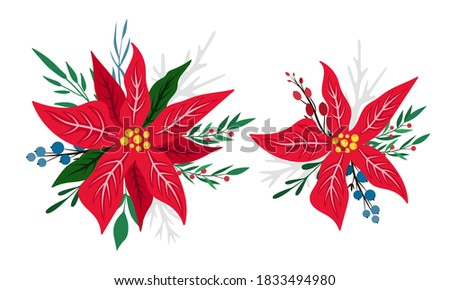 set of 2 compositions with red