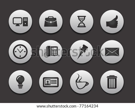 Set of Computer Icons graphics for web design collections.