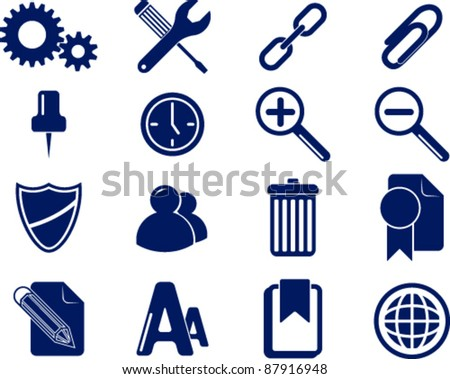 Set of computer's icons