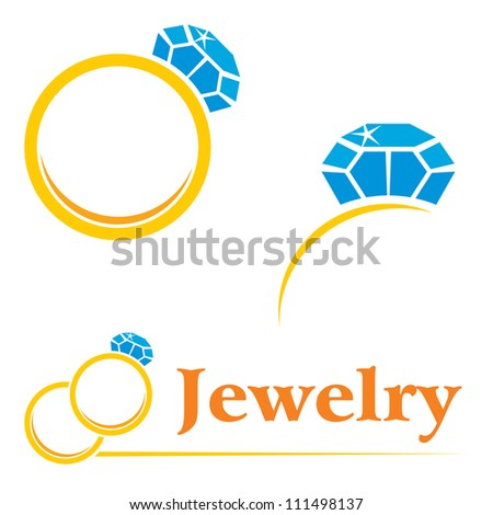 Set of concepts symbols for expensive jewelry