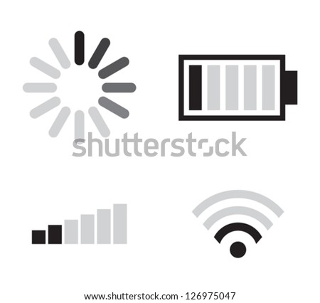 Set of connection icons