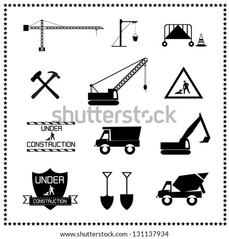 set of construction icons, Vector illustration