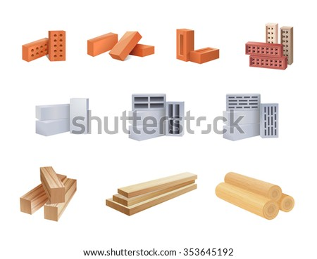 set of construction materials
