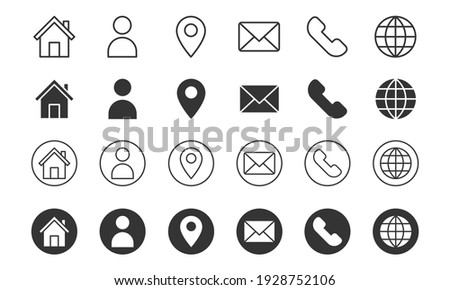 set of contact us icons. vector illustration.