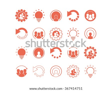 set of coral icons  logos