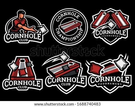 Set of cornhole Logo. Cornhole logo and badge. Cornhole vector illustration Stock photo ©