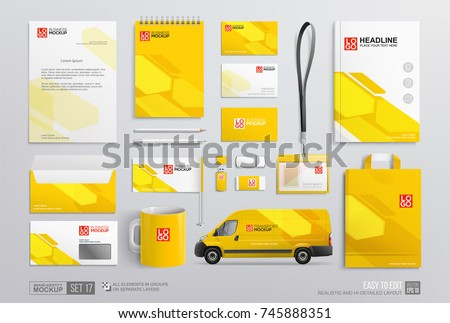 set of corporate brand identity