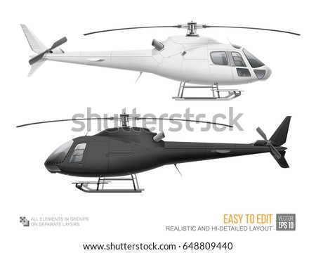 set of corporate helicopter