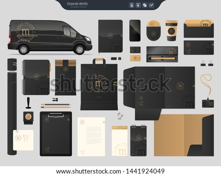 Set of corporate identity templates business style. Vector illustration.