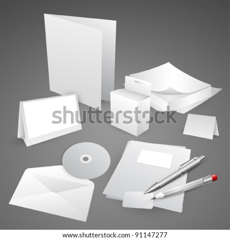 Set of corporate identity templates EPS10 vector