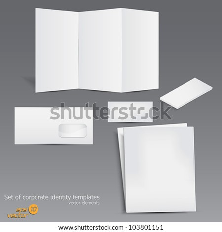 Set of corporate identity templates. Vector