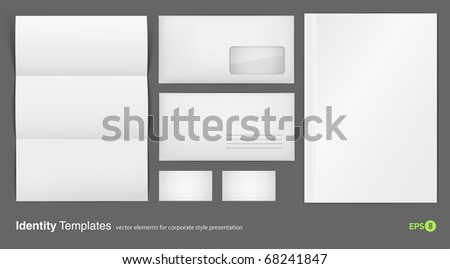 set of corporate identity templates vector illustration gradient mesh used