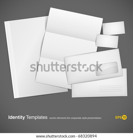 set of corporate identity templates. vector illustration. gradient mesh used (eps10) - stock vector