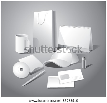 Set of corporate templates