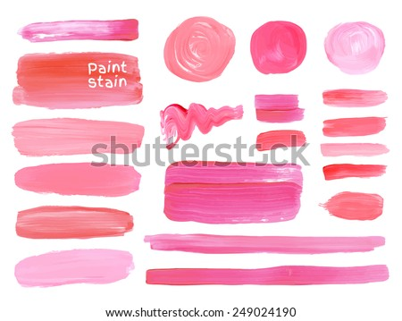 set of cosmetic texture round