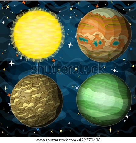 set of cosmic planets in outer