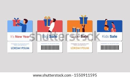 Set of coupon promotion sale for website, internet ads, social media or coupon. Big sale and super sale coupon discount. Coupon discount with vector illustration