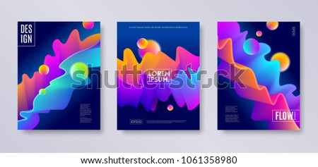 set of cover design with