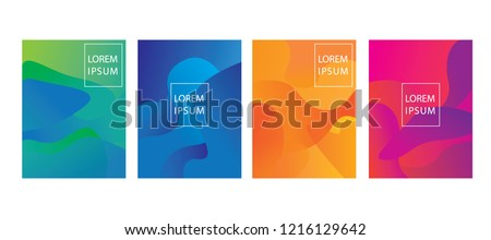 set of cover template design ,abstract luquid shape background #1216129642