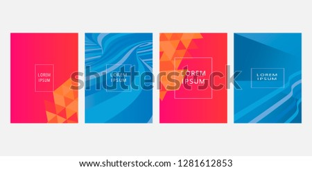 Set of covers, brochure, flyer template design with abstract background #1281612853