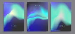 Set of covers design templates with vibrant gradient background. Trendy modern design. Applicable for placards, banners, flyers, presentations, covers and reports. Vector illustration. Eps10